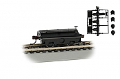 Bachmann 74405 HO  - Scale Test Weight Car - Ready to Run - Painted Unlettered - (black)