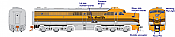 Rapido 23510 HO - PA-1 Single Locomotive - DCC & Sound - Denver & Rio Grande Western #601C