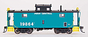 Intermountain Railway Centralia Car Shops NE-5 Caboose - Ready to Run Penn Central (Jade Green, black)