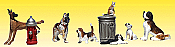 Woodland Scenics 2140 - N Scenic Accent Figures - Dogs & Cats (12/pkg)