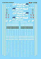 Microscale Railroad Decal Set CP Rail - CP Rail System Dual Flags (US & Canada) Scheme for Diesels 1993+ 87-754