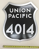 Stoddarts Ltd. UP - 3D Railroad Wall Artwork - Union Pacific #4014 Number Plate