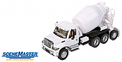 Walthers SceneMaster International 7600 4-Axle Cement Mixer - Assembled