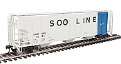 Walthers Mainline 7477 - HO 50ft PS-2 CD 4427 Covered Hopper - Soo Line #70233