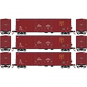 Athearn RTR 67735 - HO 50ft Evans Double-Door Plug Boxcar - Wisconsin Central (3pk)