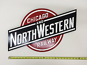 Stoddarts Ltd. C&NW - 3D Railroad Wall Artwork - Chicago & Northwestern Logo