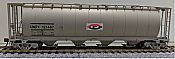 Rapido 127010-6 HO 3800 cu. ft. Canadian Cylindrical Hopper Procor (UNPX) as delivered w/'Flying P' logo - #121486