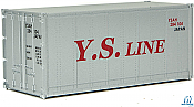 Walthers SceneMaster 8659 HO - 20ft Smooth-Side Container - YS Line #284104