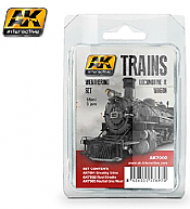 AK Interactive 7000 - Locomotive & Wagon Weathering - Enamel Paint Set (3)