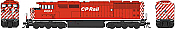 Bowser 25002 - HO GMD SD40-2f - DCC & Sound - CP Rail (Round Porthole, White Stripe) #9024