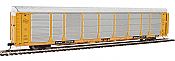 WalthersProto 101339 HO - 89ft Thrall Bi-Level Auto Carrier - Ready To Run - Milwaukee Road Rack, TTGX Flatcar #910250