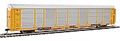 WalthersProto 101339 HO - 89ft Thrall Bi-Level Auto Carrier - Ready To Run - Milwaukee Road Rack, TTGX Flatcar #910250
