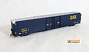 Tangent Scale Models 25016-02 HO - Greenville 86ft Double Plug Door Box Car - CSX Repaint 1991/92+ #180893