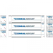Athearn 27734 - HO 48ft Container - Conrail/Mercury (3/pkg)
