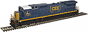 Atlas 10 002 266 HO Dash 8-40C Locomotive Silver - DCC Ready - CSX YN3b No7542