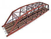 Central Valley 1900 - HO 200ft Double-Track Heavy-Duty Laced-Parker-Truss Bridge - Kit
