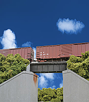 Walthers 4509 HO Cornerstone 30' Single-Track Railroad Through Girder Bridge - Low Level
