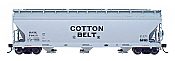 Intermountain 47044-09 HO RTR- ACF 4650 3-Bay Hopper - Cotton Belt #70401
