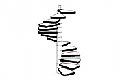 Plastruct 90946 - G (1:24) Custom Spiral Staircase (1pc)