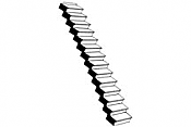 Plastruct 90940 - G (1:24) Custom Straight Staircase (1pc)