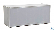 Walthers SceneMaster 8650 HO - 20ft Smooth-Side Container - Undecorated
