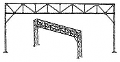 N.J International HO Standard Signal Bridge 3-4 Track Kit