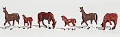 Woodland Scenics 1842 HO Chestnut Horses
