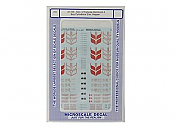 Microscale Decals 87729 HO - Gov of Canada Aluminum 4 Bay Cylindrical Cov. Hopper