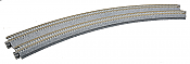 "Kato Unitrack 20-185 N Scale Concrete Tie Double Track Super Elevated Curved  18-7/8 & 17-5/8"" 480 & 447mm Radius 22.5 Degree Sections pkg(2)"