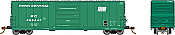 Rapido 139002-F HO Scale - Evans X72 Box car: Penn Central w/ Small Logo - Single Car #269990