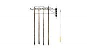 Woodland Scenics 2280 - O Scale Utility System - Single-Crossbar Pre-Wired Poles