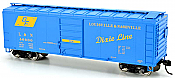 Bowser 42442 HO 40Ft Steel Side Box Car (DF2 Dixie Line Blt 10-53) -Ready to Roll- L&N #46745