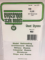 Evergreen Scale Models 9100 - .100in Plain Opaque White Polystyrene Sheet (1 Sheet)