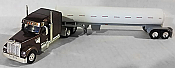 Trucks n Stuff 60118 HO Freightliner Coronado Mid-Roof w/Sleeper Tractor w/Propane Tank Trailer - Brown Cab