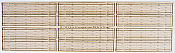 Blair Line 118 HO Rough-Cut 2-Lane Wood Grade Crossing - Kit pkg (12)