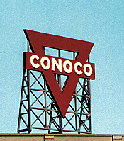 Blair Line Laser-Cut Wood Billboard - Large for HO, S, & O Conoco