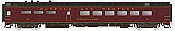 Rapido Trains 124044 HO Scale Pullman-Standard Lightweight Diner Norfolk & Western #493 General William Malone Pre Order