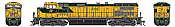 Athearn G31620 HO Scale - G2 Dash 9-44CW Diesel, DCC & Sound - CNW #8701