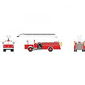 Athearn 91866 - HO RTR Ford C Telesqurt - Red w/ White Cab
