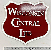 Stoddarts Ltd. WC - 3D Railroad Wall Artwork - Wisconsin Central Logo
