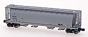 Intermountain Railway Z Scale Cylindrical Covered Hopper w/Trough Hatch - Ready to Run Milwaukee Road (gray)