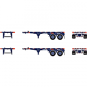 Athearn HO 94491 20 Ft Container Chassis, P&O Nedlloyd - 2 units