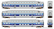 Rapido 146001 HO - BiLevel Commuter Car - AMT Montreal - Set #1