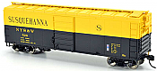 Bowser 42459 HO 40Ft Steel Side Box Car (Blt 11-52) -Ready to Roll- NYSW Susquehanna #523