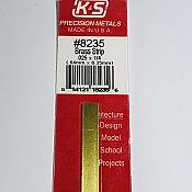 K&S Engineering 8235 All Scale - Brass Strip - 12inch x 1/4inch x .025inch