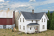 Walthers 3333 HO Cornerstone Rural USA Lancaster Farmhouse - Kit