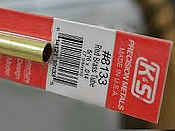 K&S Engineering 8133 All Scale - 5/16 inch OD Round Brass Tube 0.014inch Thick x 12inch Long
