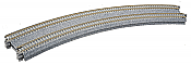 Kato Unitrack 20-181 N Scale - Concrete Double Track Super-Elevated Curve Track - 45-degree Radius - 15in/19in (381mm/414mm)(2/pkg)