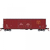 Athearn RTR 67732 - HO 50ft Evans Double-Door Plug Boxcar - Wisconsin Central #1003
