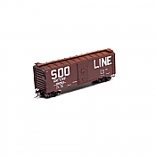 Athearn 73530 HO RTR 40 Ft Youngstown Door Box, SOO Line #136804